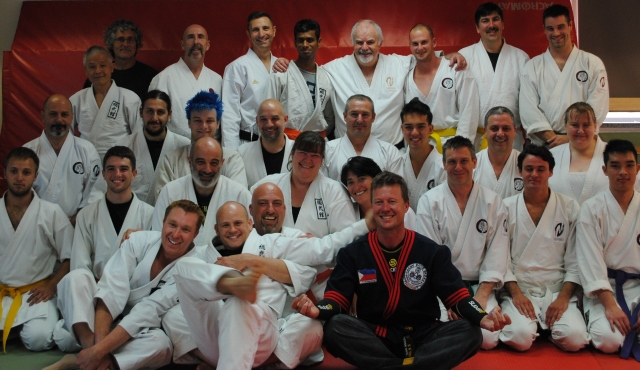 A great turnout for Hanshi's first seminar at Sobukan