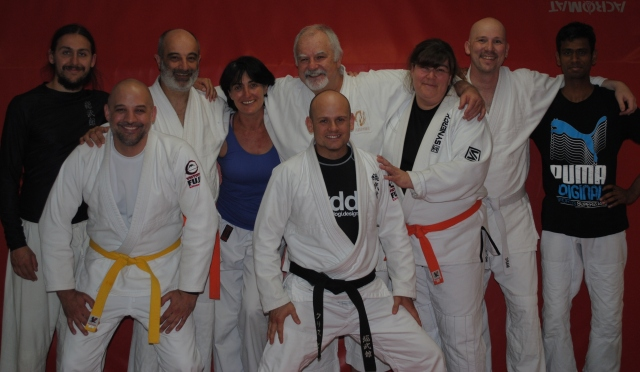 Sobukan students with Hanshi Patrick McCarthy