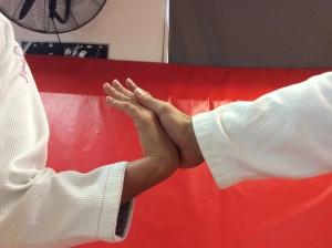 Correct hand position